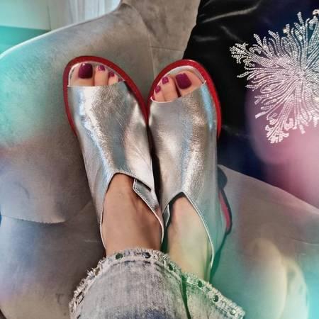 Nowość Włoskie sandałki Silver  1521002LL