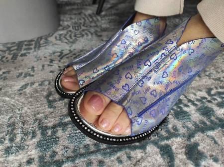 Włoskie sandałki holo love 1520067LL Tuffoni